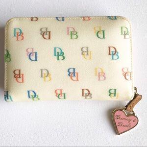 Dooney & Bourke 'It' Rainbow Zip Wallet Ivory